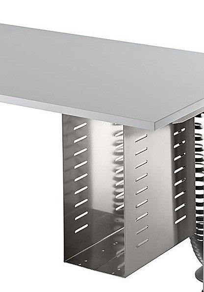 PC-Halter für höhenverstellbare Tisch, Silber