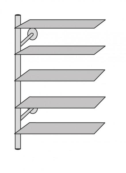 Regalelement ARTE 80 x 40 x 190 cm Edelstahl