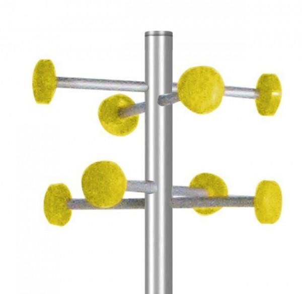 Garderobe G 20 gelb mit 8 Aufhängern