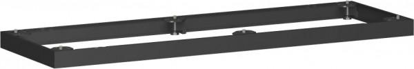 Metallsockel, Auswahl entsprechend Schrankbreite, 160x5cm, Schwarz