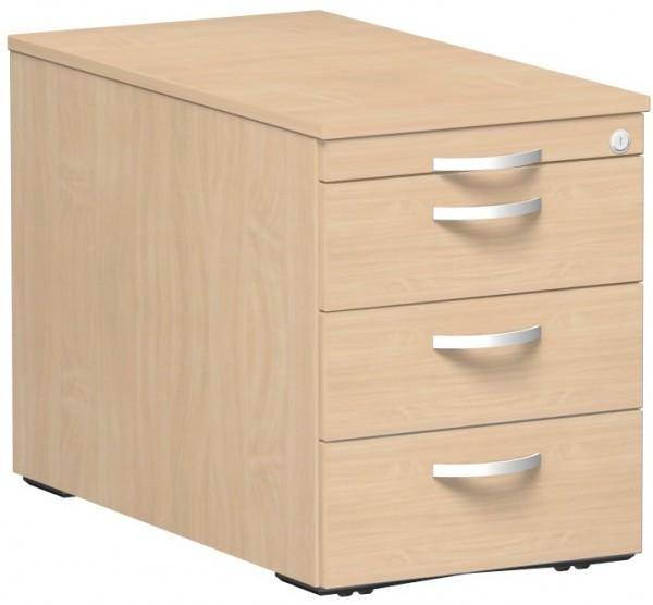 Rollcontainer 3 Metall-Schubfächer 1 Utensilienschubfach 80 x 43,8 x 56,5 cm