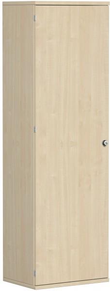 Garderobenschrank mit ausziehbarem Garderobenhalter, 60x42x192cm, Ahorn