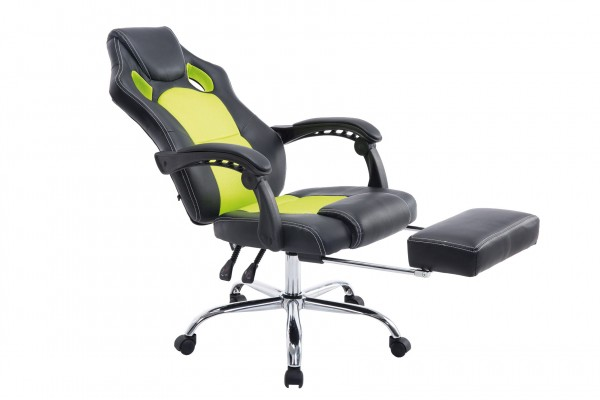 Bürostuhl Energy mit Fussablage, schwarz/grün