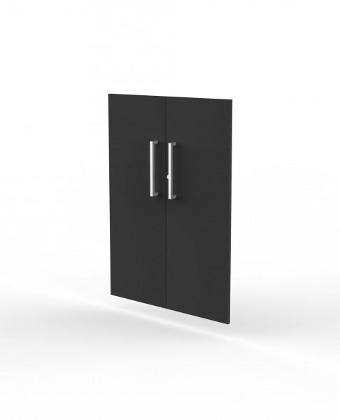 Vorbautüren für Einzelregal, Abschließbar, 3 OH, Anthrazit