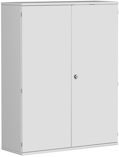 Garderobenschrank mit ausziehbarem Garderobenhalter, 120x42x154cm, Lichtgrau