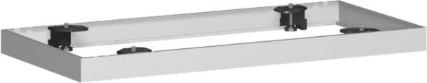 Metallsockel für Querrollladenschrank, 80x5cm, Silber