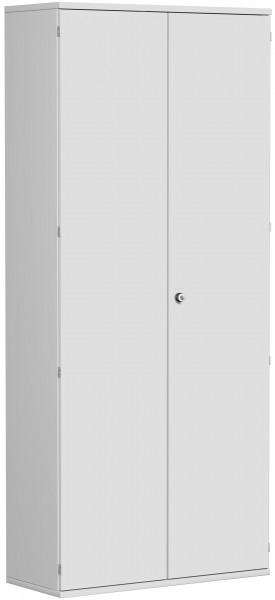 Garderobenschrank mit ausziehbarem Garderobenhalter, 100x42x230cm, Lichtgrau