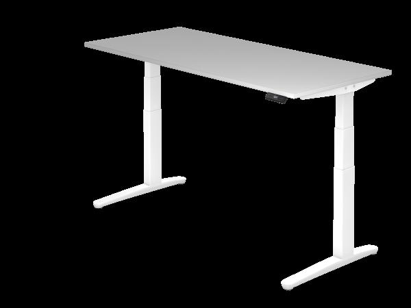 Sitz-Steh-Schreibtisch elektrisch 180 x 80 cm Grau / Weiß