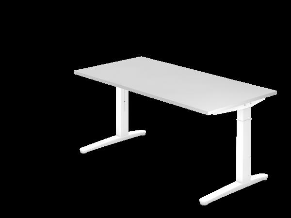 Schreibtisch C-Fuß 160 x 80 cm Weiß / Weiß