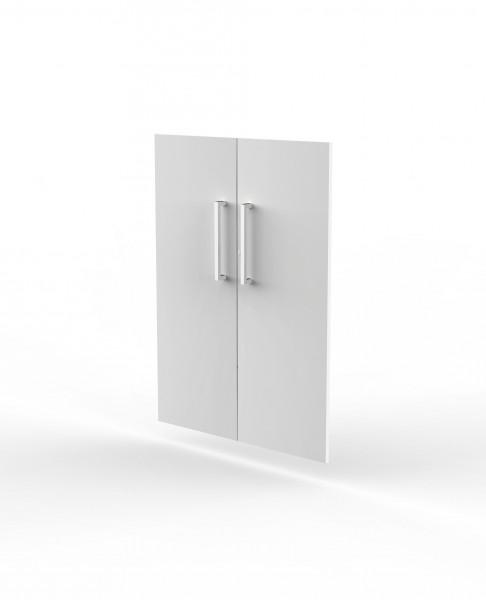 Vorbautüren für Einzelregal, Abschließbar, 3 OH, Weiß