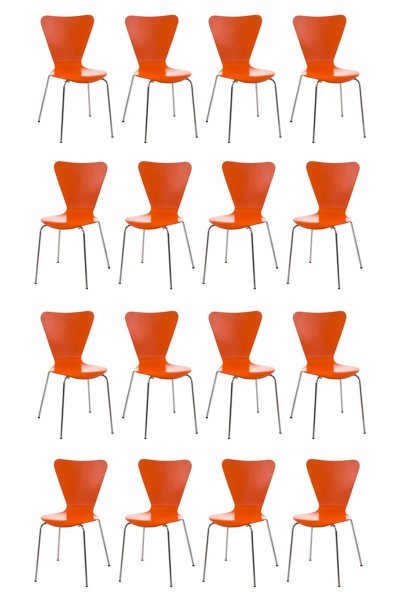 16er Set Besucherstuhl Calisto, orange