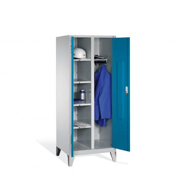 Wäsche-Spind Classic auf Füßen, 2 Abteile, 185x81x50cm