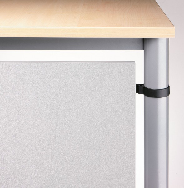 Sichtblende, Silber, H=40cm