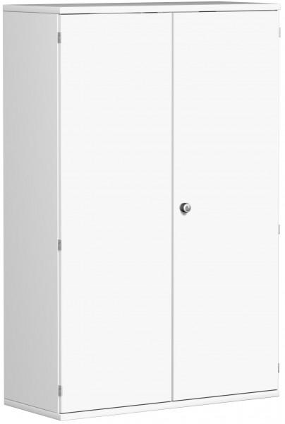 Garderobenschrank mit ausziehbarem Garderobenhalter, 100x42x154cm, Weiß