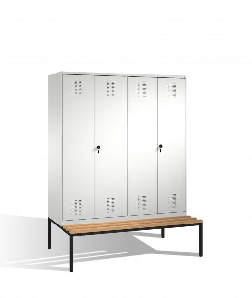 Doppelspind Evolo mit Sitzbank, 4 Abteile, 209x160x50/81cm