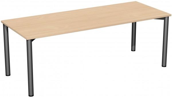 Konferenztisch 4 Fuß-Rundrohrgestell 200 x 80 x 72 cm