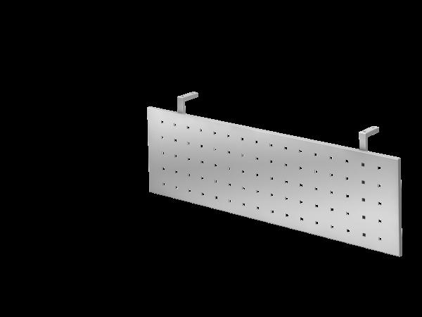 Sichtblende H=40cm 90cm für Eckwinkel, Silber