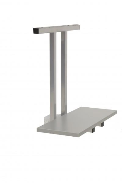 PC-Halter für Sitz-Steh-Schreibtische, Silber