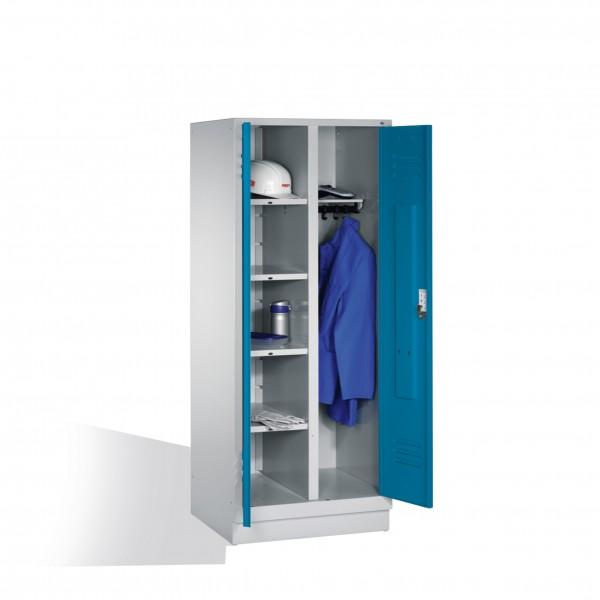 Wäsche-Spind Classic auf Sockel, 2 Abteile, 185x81x50cm