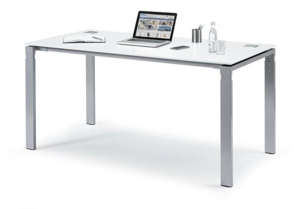 Schreibtisch 4-Fuß Comfort EVO 120x80x73-85,5 cm
