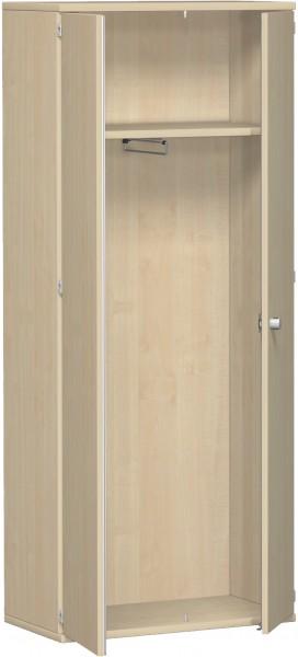 Garderobenschrank mit ausziehbarem Garderobenhalter, 80x42x192cm, Ahorn