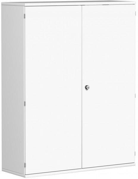 Garderobenschrank mit ausziehbarem Garderobenhalter, 120x42x154cm, Weiß