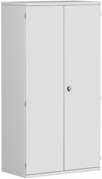 Garderobenschrank mit ausziehbarem Garderobenhalter, 80x42x154cm, Lichtgrau