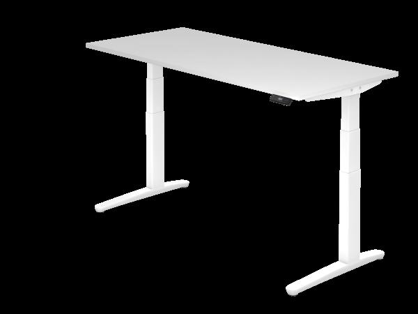 Sitz-Steh-Schreibtisch elektrisch 180 x 80 cm Weiß / Weiß