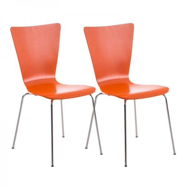 2er Set Besucherstuhl Aaron, orange