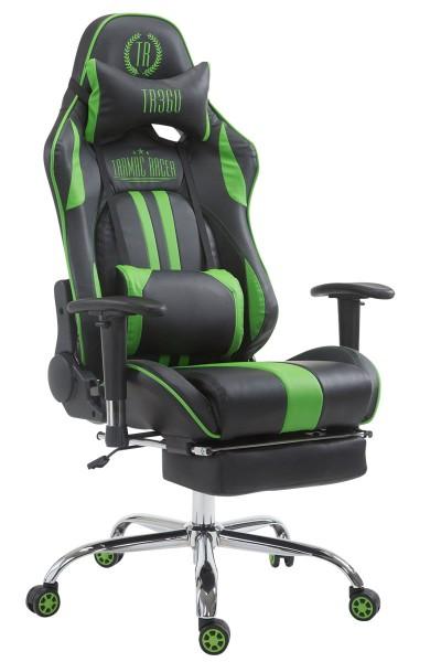 Racing Bürostuhl Limit mit Fußablage , schwarz/grün