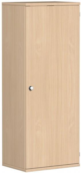 Garderobenschrank mit ausziehbarem Garderobenhalter, 60x42x154cm, Buche