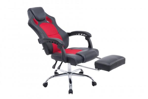 Bürostuhl Energy mit Fussablage, schwarz/rot