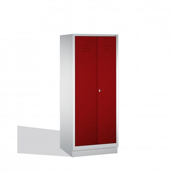 Putzmittel-Spind Classic auf Sockel, 2 Abteile, 185x81x50cm