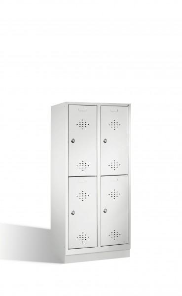 Doppelstockspind Classic auf Sockel, 4 Fächer, 180x81x50cm