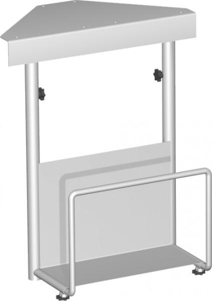 CPU-Halter unter Tischplatte zu montieren, 125-225x380x470-520, Silber