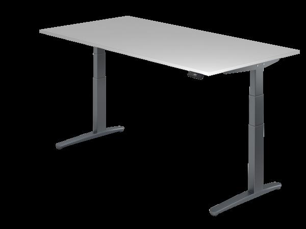 Sitz-Steh-Schreibtisch elektrisch 200 x 100 cm Grau / Graphit