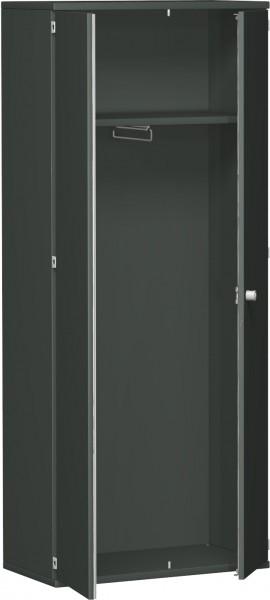 Garderobenschrank mit ausziehbarem Garderobenhalter, 80x42x192cm, Graphit