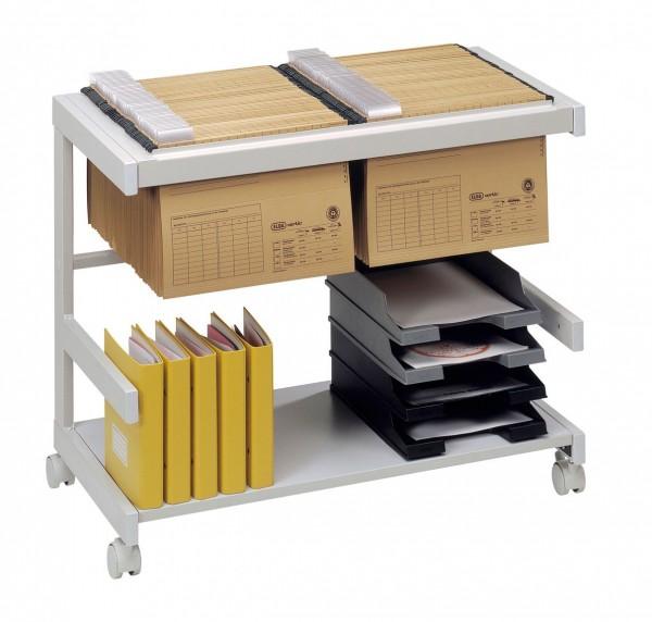 Bürowagen 1 Hängeregister, 1 Boden 81 x 43 x 67 cm Grau / Grau