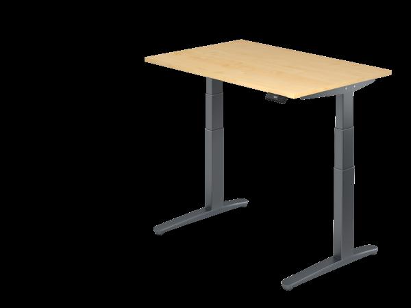 Sitz-Steh-Schreibtisch elektrisch 120 x 80 cm Ahorn / Graphit