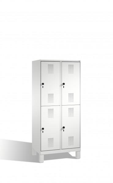 Doppelstockspind Evolo auf Füßen, 4 Fächer, 185x80x50cm