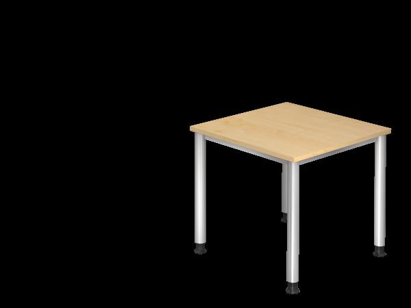 Schreibtisch 4-Fuß rund 80 x 80 cm