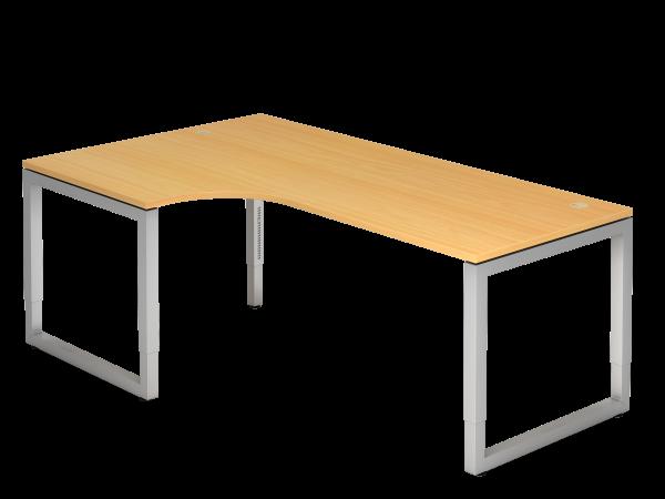 Winkeltisch 90° O-Fuß eckig 200 x 120 cm