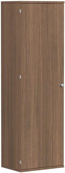 Garderobenschrank mit ausziehbarem Garderobenhalter, 60x42x192cm, Nussbaum