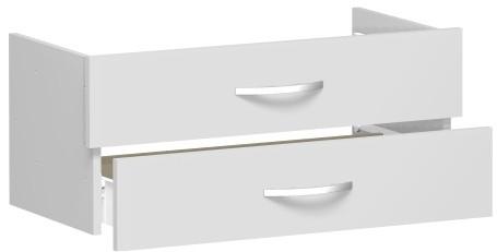 Schubkasteneinsatz für Korpusbreite 80 cm, 1 Ordnerhöhe, Lichtgrau