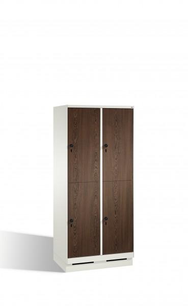 Doppelstockspind Evolo auf Sockel, 4 Fächer, 180x80x50cm