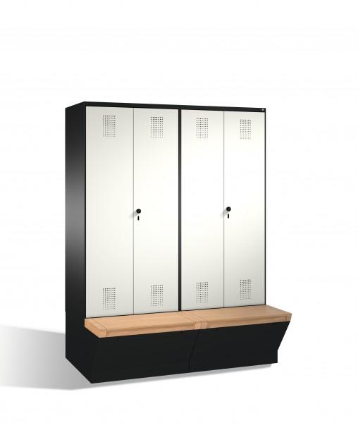 Doppelspind Evolo mit Sitzbox, 4 Abteile, 209x160x50/81cm