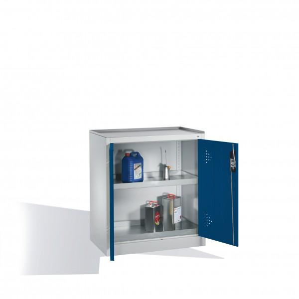 Umwelt-Beistellschrank mit Drehtüren, 2 Wannenböden, H1020xB93x50cm