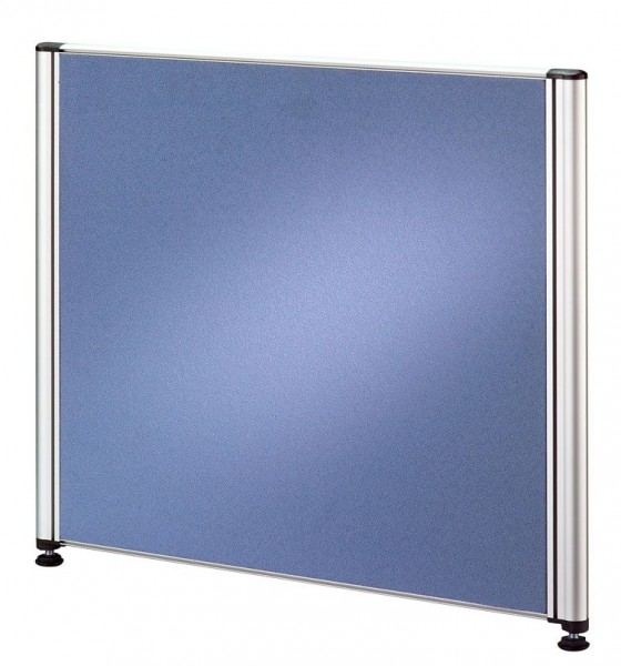 Trennwand für Call-Center Tische, 50 cm, Blau