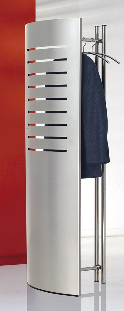 Standgarderobe tec-art, alusilber 1700x600x400mm inkl. 5 Chrom Kleiderbügel