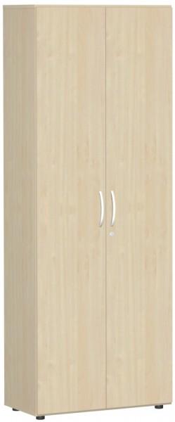 Schranksystem Flex Garderobenschrank 6 Ordnerhöhen, ausziehbarer Garderobenhalter, Ahorn Ahorn